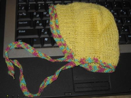 выкладываю фото-схемку вязания шапочки-чепчика.  1. Размер получается для новорожденного (60).  Пряжа тонкая (не знаю...