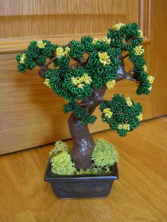 Рукоделие: Деревья Из Бисера ФОТО #3.