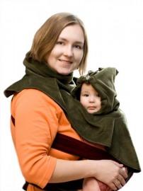 Двойная манишка Мама и Малыш Хаки ТМ Мама Рядом.