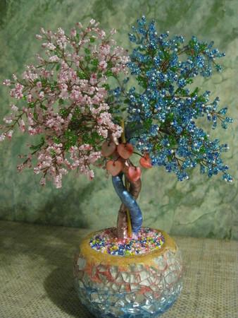 Каталог статей: Дерево любви из бисера для вдохновения.  В данной статье размещены фото дерева любви...
