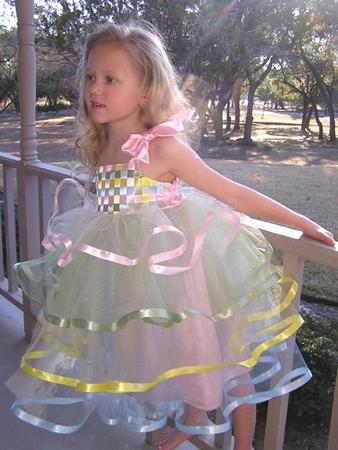 Выкройка платья для девочки трех лет.  Шью сама нарядное платье.