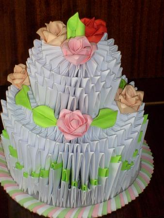 Модульное оригами торт схема сборки фото 872