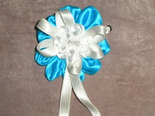 sewing ribbon flower tutorial